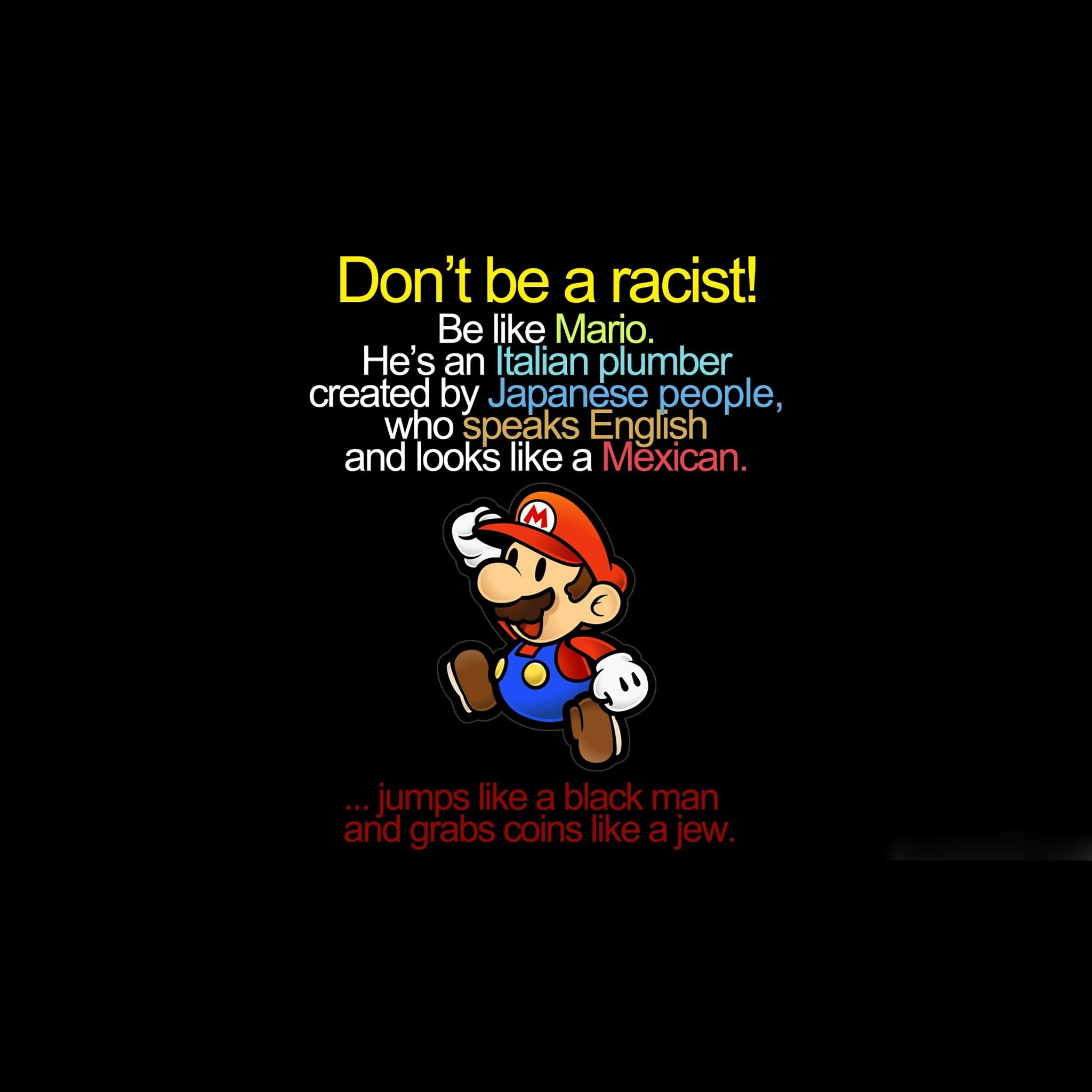 Mario funny iPad Air wallpaper