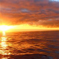 Sunrise landscape iPad Air wallpaper