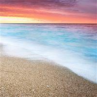 Fire Sunset At Beach iPad Air wallpaper