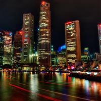Singapore Night iPad Air wallpaper