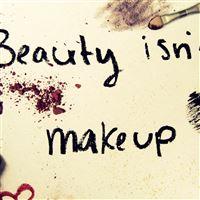 Beauty Is Not Make Up iPad Air wallpaper