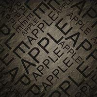Apple Text Black iPad Air wallpaper