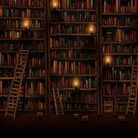 Bookshelves iPad Air wallpaper