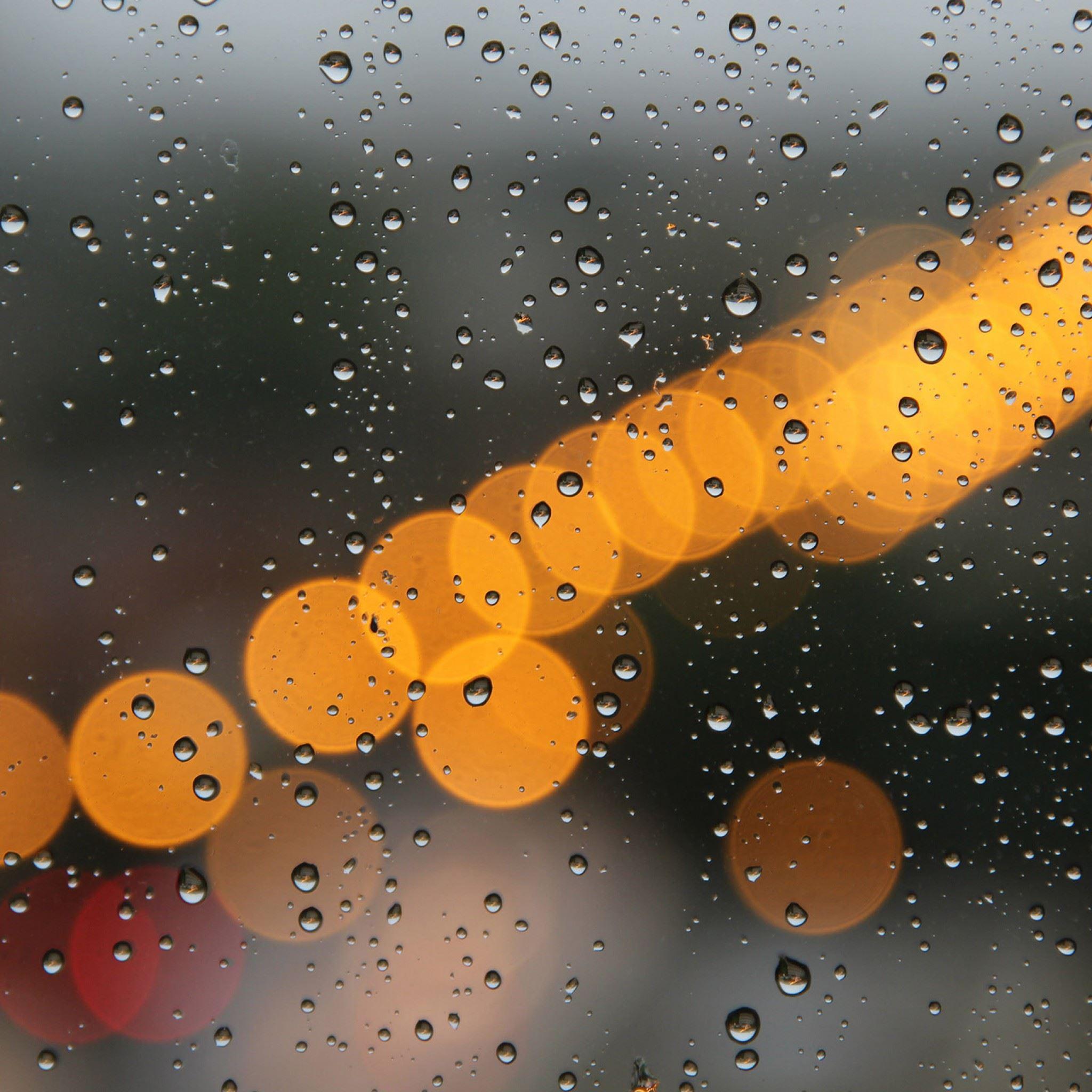 Light Rainwater Night iPad Air wallpaper