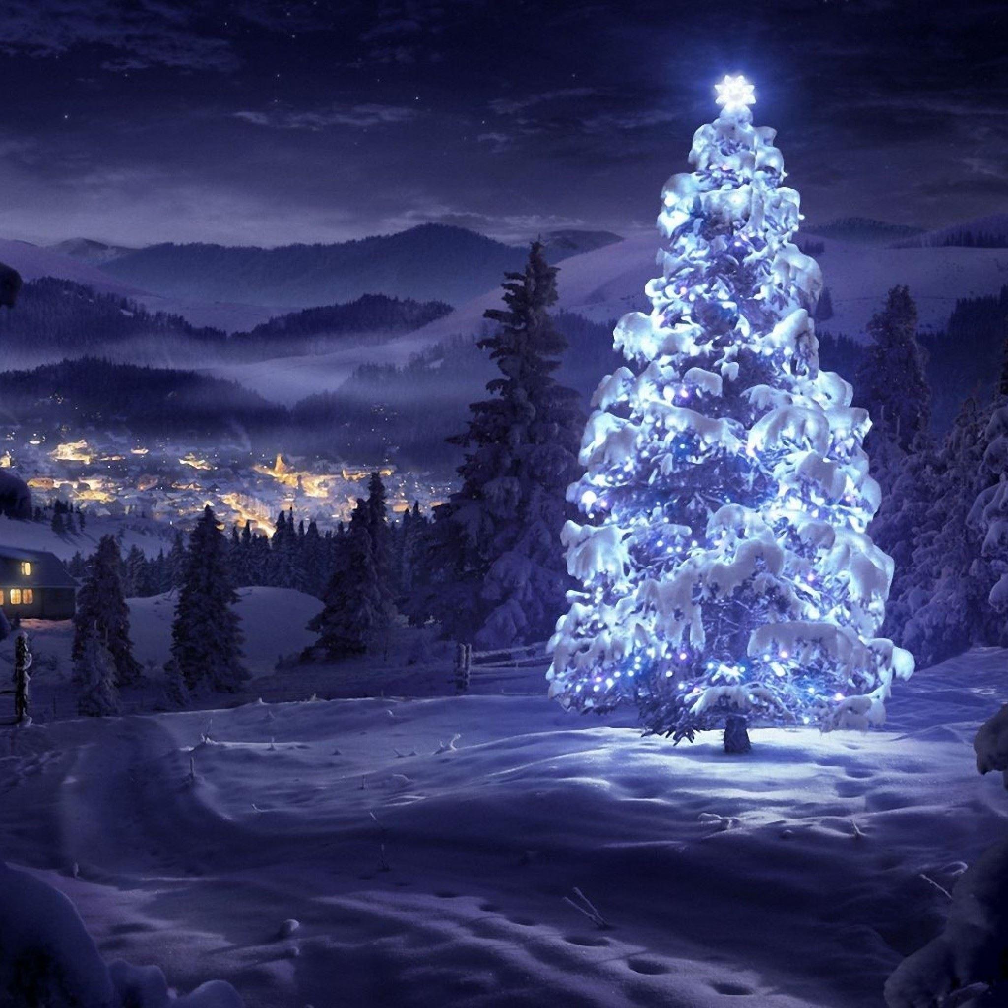 Christmas Tree Greeting Cards IPad Air Wallpaper