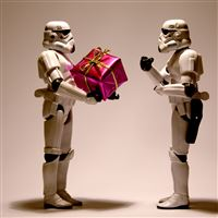 Stormtrooper christmas iPad Air wallpaper