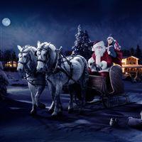 Moon Night New Year Greeting Cards iPad Air wallpaper