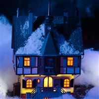 Mini Christmas House iPad wallpaper