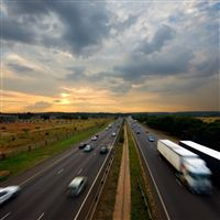Highway Machines Clouds iPad Air wallpaper