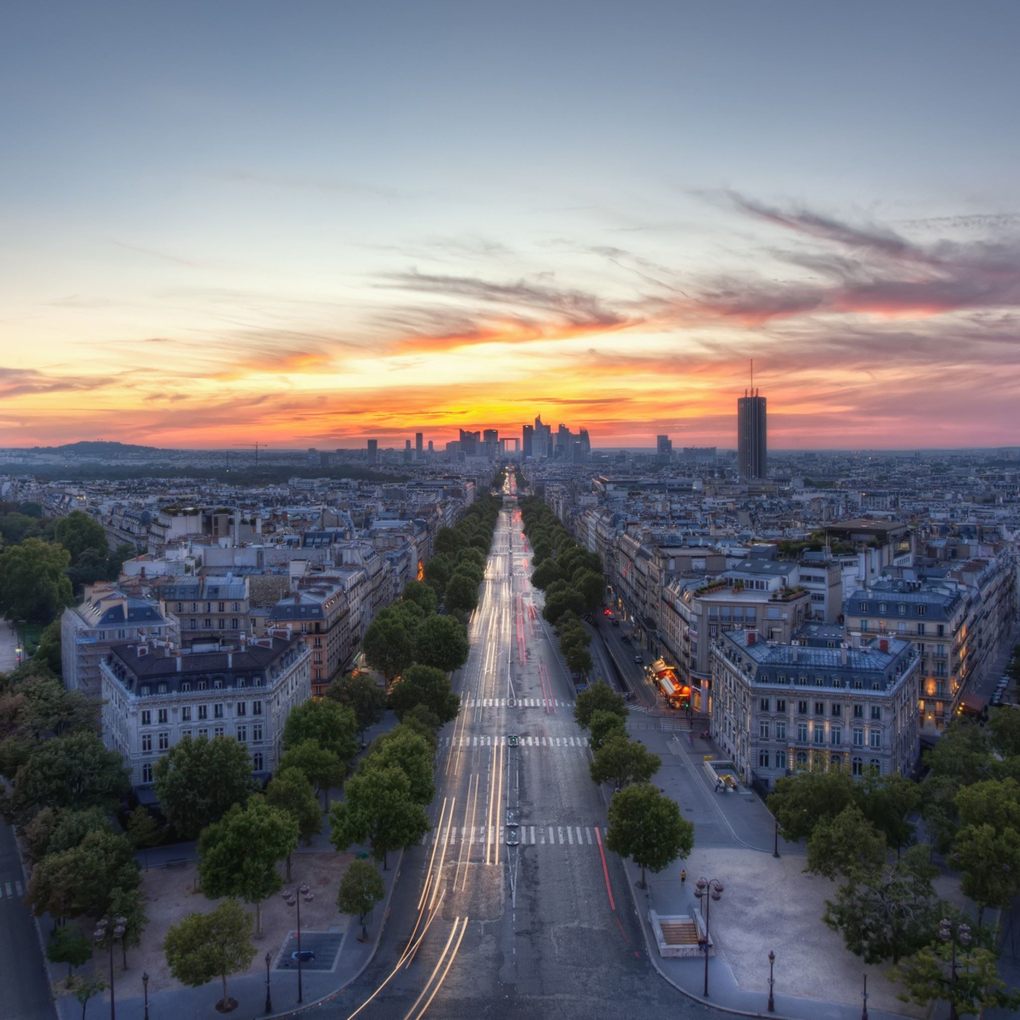 Sunset Paris France IPad Air Wallpaper Download