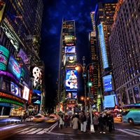 Times Square Night iPad wallpaper