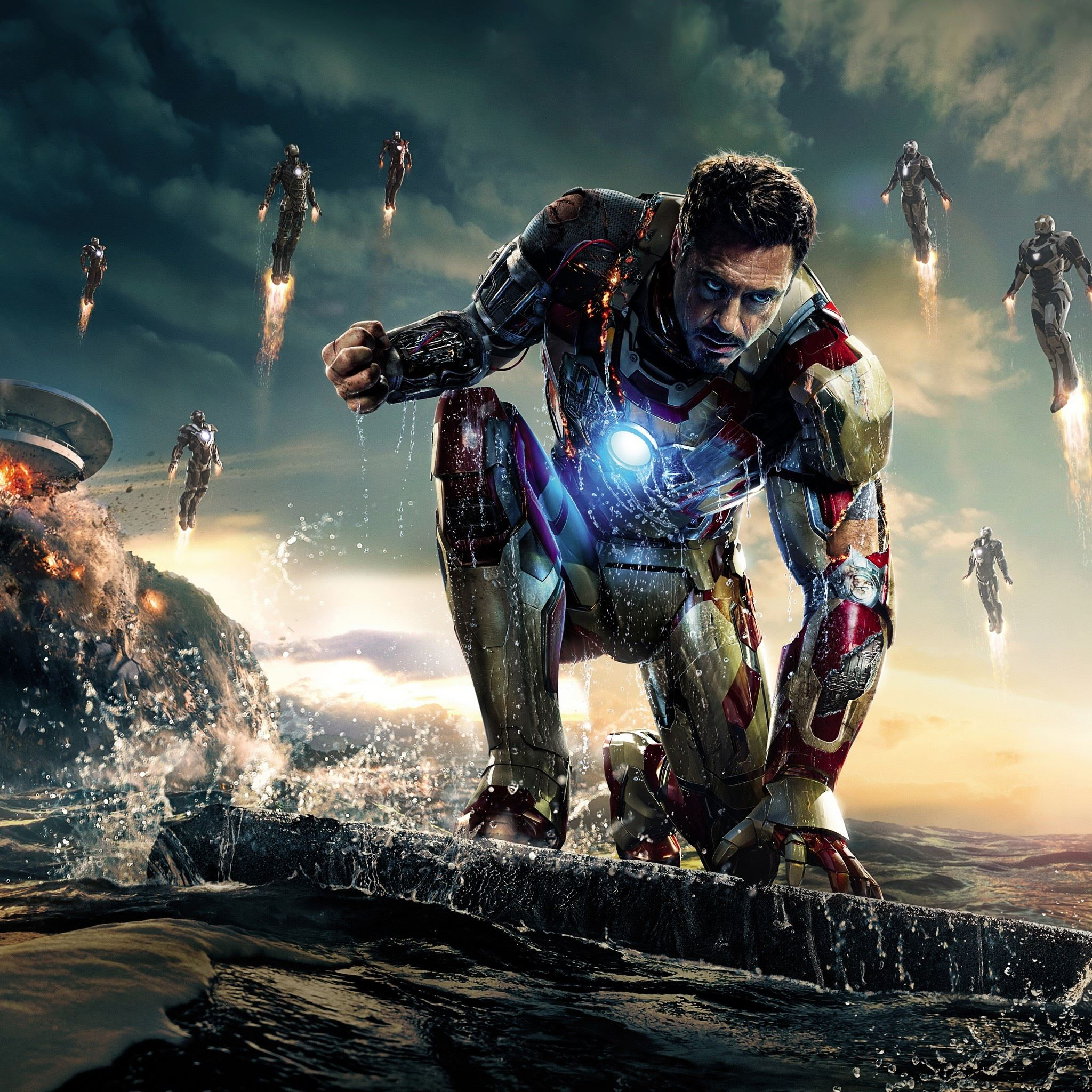 Iron Man 3 Marvel Robert Downey Jr Tony Stark IPad Air Wallpaper