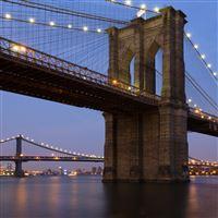 Night Bridge iPad wallpaper