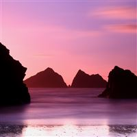 Pure Purple Holywell bay  iPad Air wallpaper