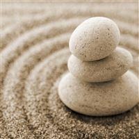 Overlap Pebble Stones Sand Macro iPad Air wallpaper