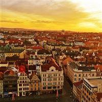 Plzen Czech Republic Panorama iPad Air wallpaper