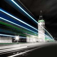 Big Ben Night Lights iPad Air wallpaper