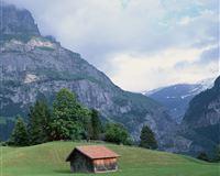 Nature Mountain House iPad Air wallpaper