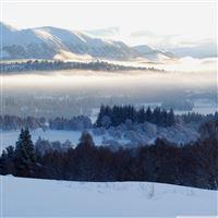 Cairngorms Under Snow iPad Air wallpaper
