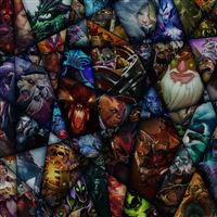 Lol Art Chracters Illust Game iPad Air wallpaper