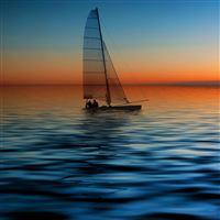 Sail Boat Seascape iPad Air wallpaper