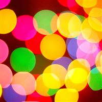 Christmas Colorful Light Bokeh iPad Air wallpaper