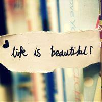 Life Is Beautiful Bookmark iPad wallpaper