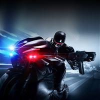 RoboCop 2014 Riding Motorcycle iPad Air wallpaper