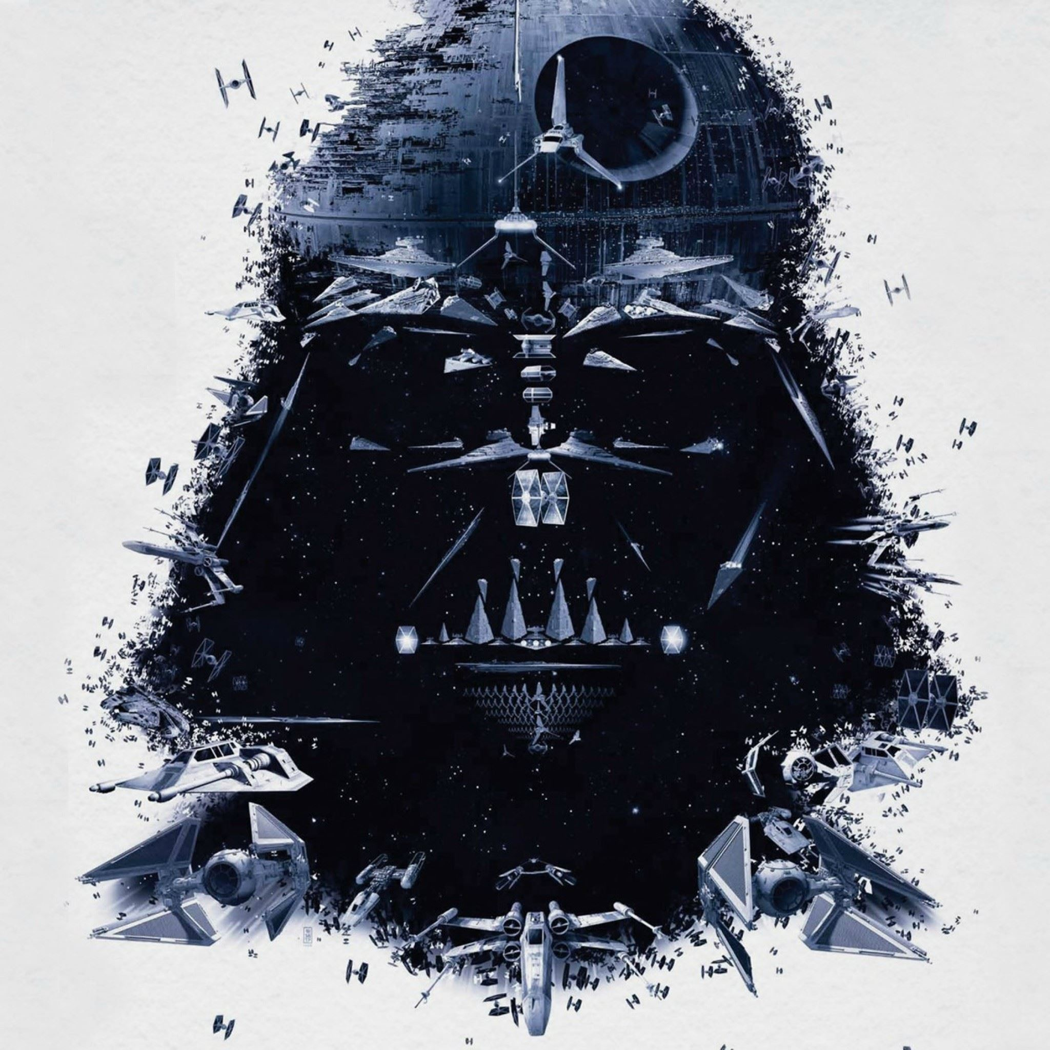 Darth Vader Portrait Art IPad Air Wallpaper