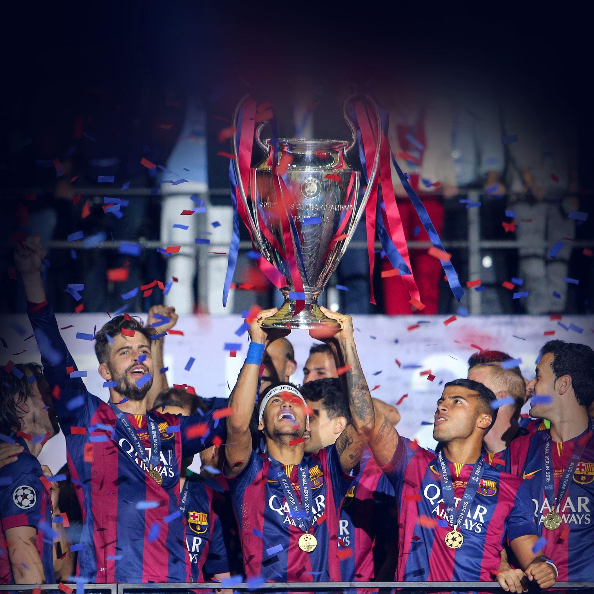 Barcelona FC Champoions Sports Win IPad Air Wallpaper