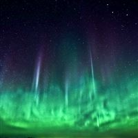 Wonderful Northern Aurora Lights Skyscape Space View iPad Air wallpaper