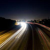 The Blinker Traffic Road Night iPad wallpaper