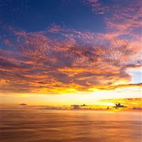 Gorgeous Sunset Sea View Landscape iPad Air wallpaper