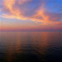 Calm Sunset Skyview Ocean Pure iPad Air wallpaper