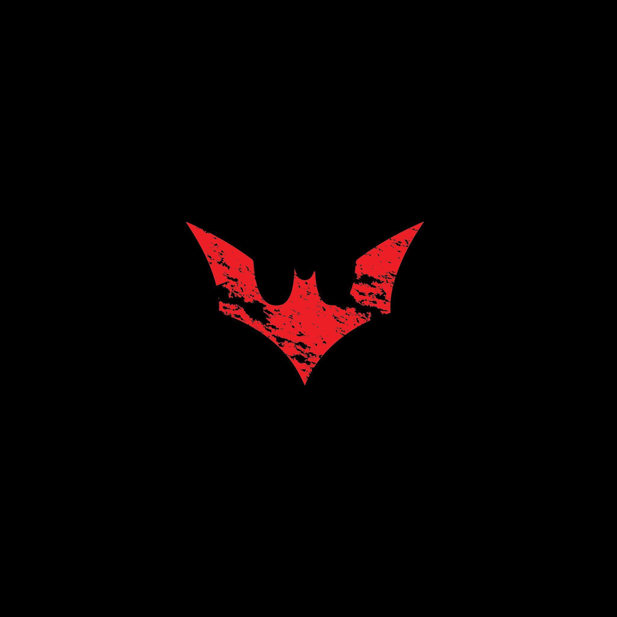 Wallpaper Iphone Superhero: Batman Logo Red Dark Hero Art IPad Air Wallpaper Download