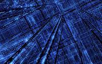 3D Shiny Blue Silicon Dark iPad wallpaper