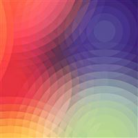 Colorful Circle Overlap Pattern Art iPad wallpaper