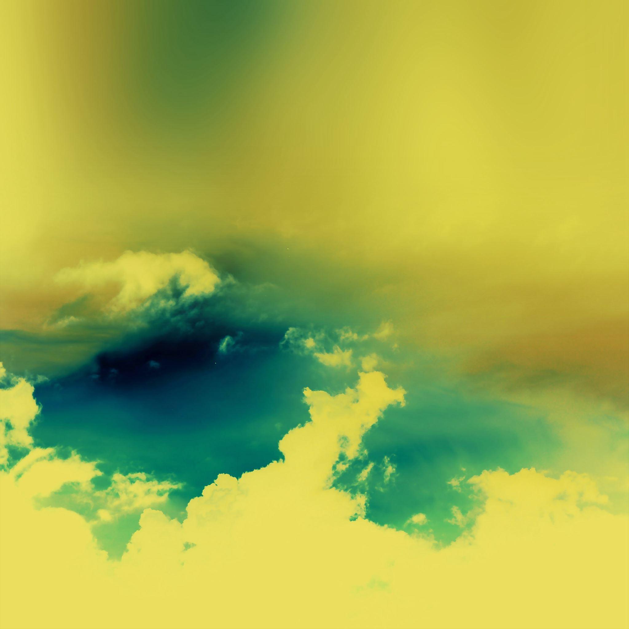 Sunny Cloudy Sky In Colors iPad Air wallpaper