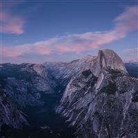 Nature Yosemite Mountain Dark Night Landscape iPad Air wallpaper