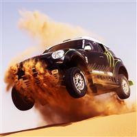 Mini Cooper Car Cross Desert iPad wallpaper
