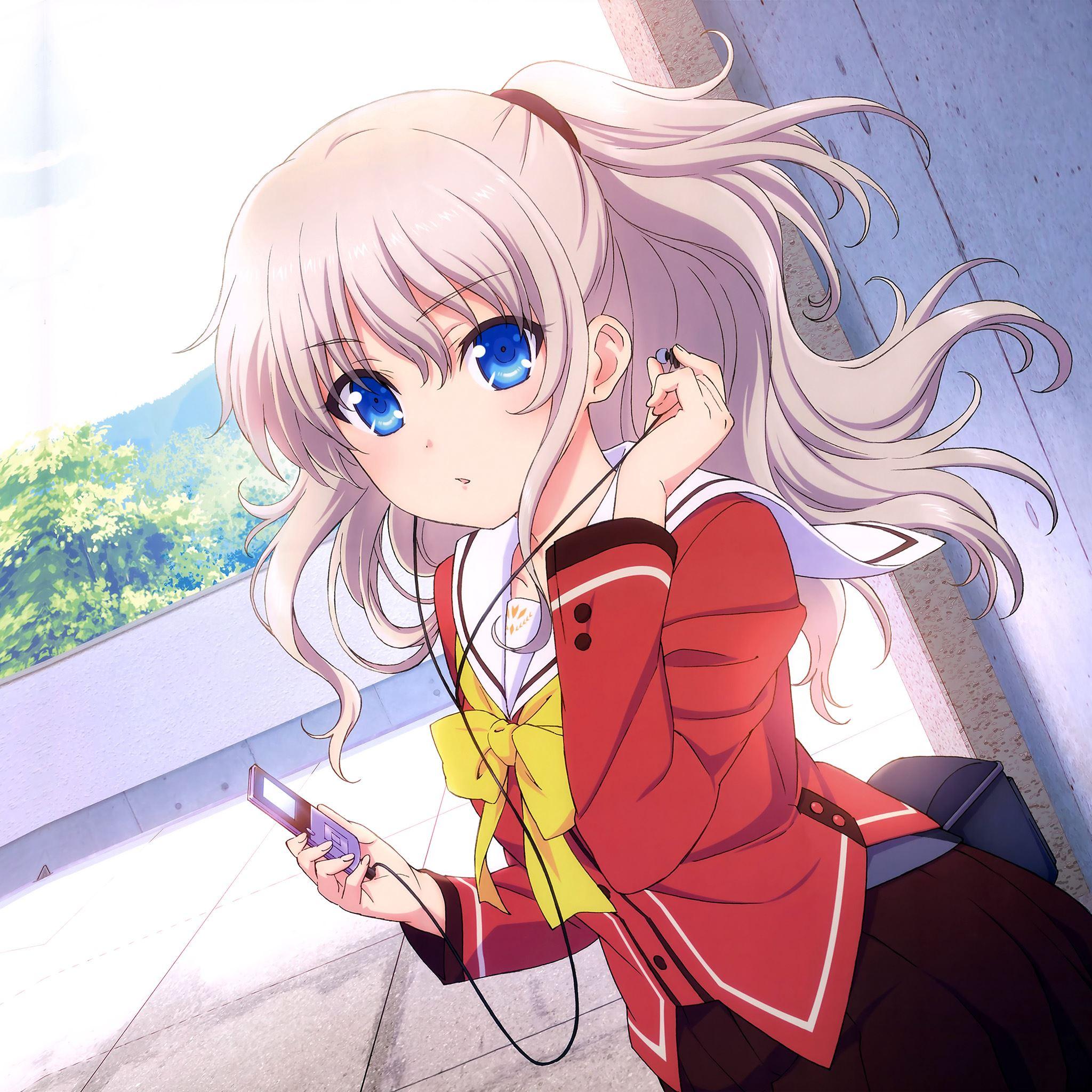 Chalorette Anime Girl Cute Art Illustration iPad Air wallpaper