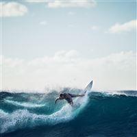 Sea Wave Sports Summer Man iPad wallpaper