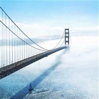 Bridge Sea Lake River City iPad wallpaper