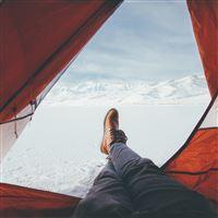 Tend Snow Artic Winter Camp Nature iPad Air wallpaper