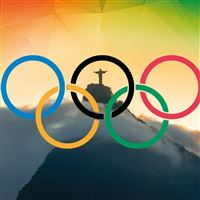 Olympic Games Rio 2016 Rio De Janeiro Brazil Corcovado iPad Air wallpaper