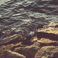Stones Sea Waves iPad Air wallpaper