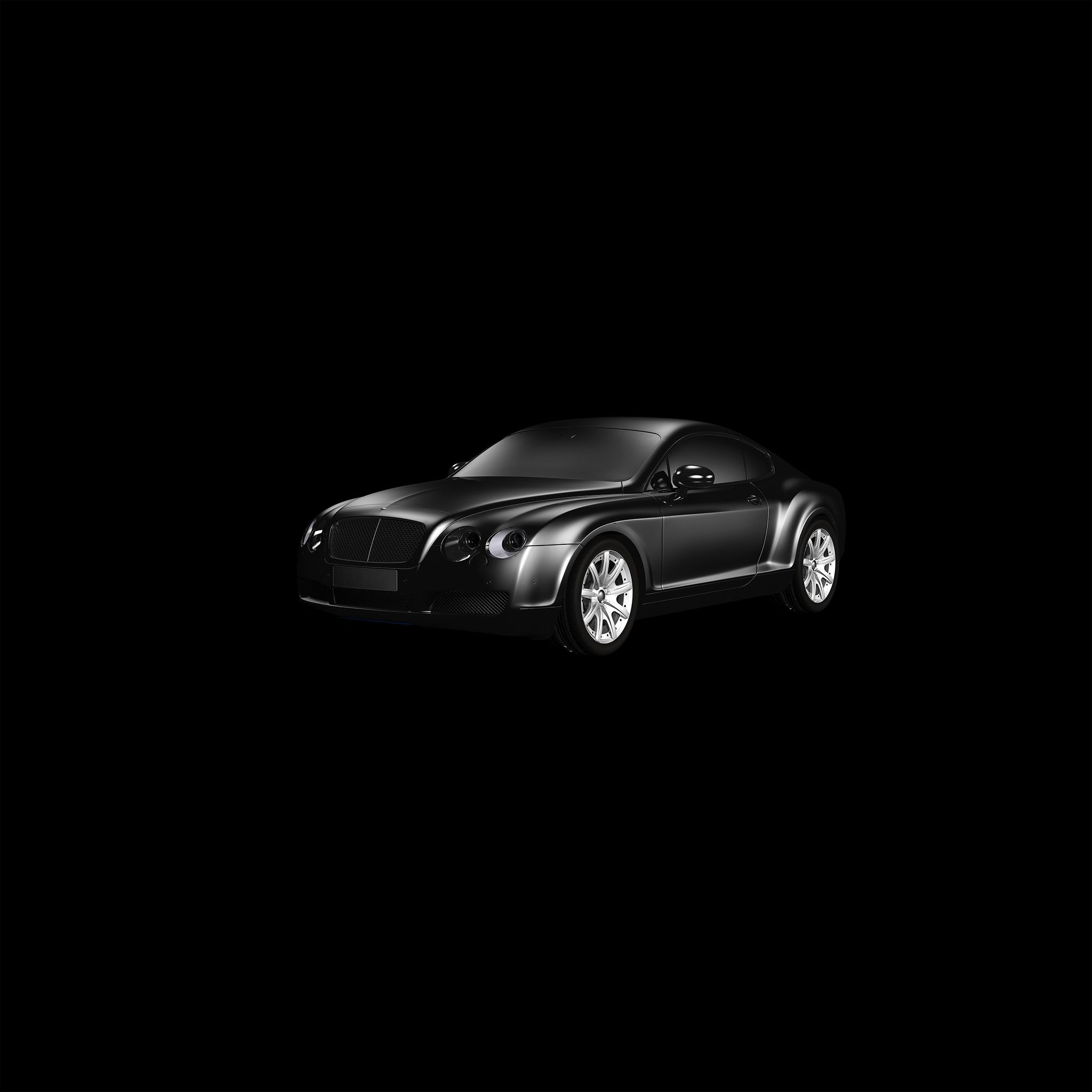 ... Car Bentley Dark Black Limousine Art Illustration IPad Air Wallpaper