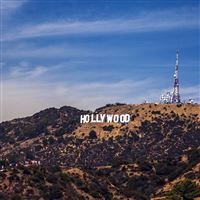 Hollywood Sign La America Sky Mountain iPad wallpaper