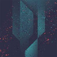 HTC Art Design Dot Paint Pattern Blue iPad wallpaper