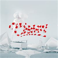 Cheers Red Abstract 3D Art Illustration iPad wallpaper
